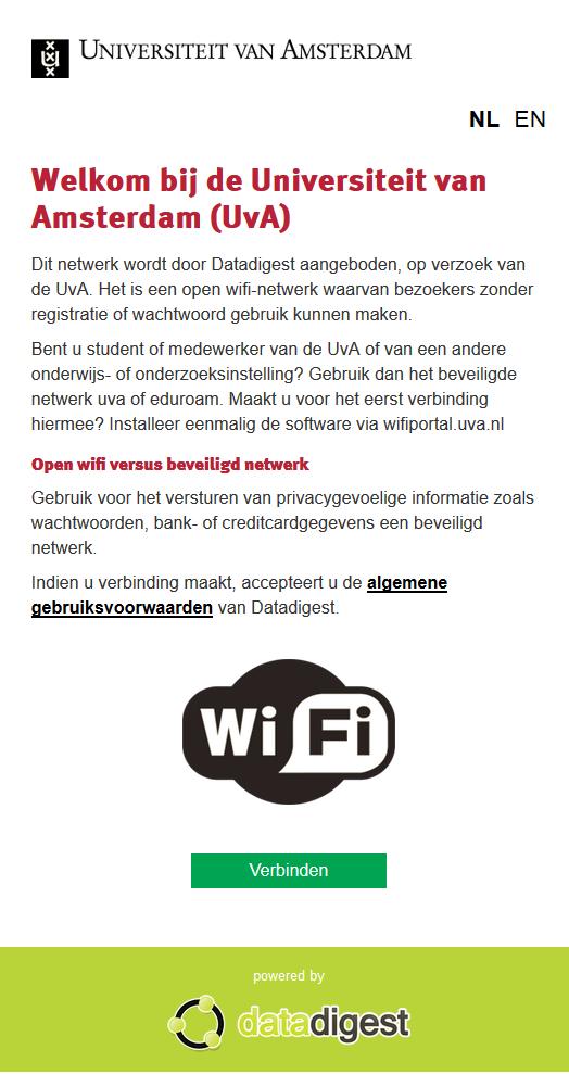 De Eerste Stap Naar Amsterdam Open Wi Fi Uva Hva